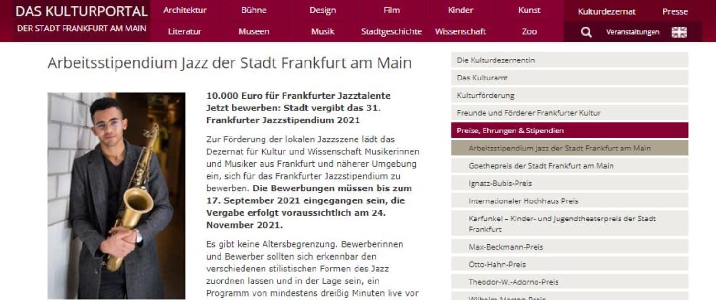 31. Frankfurter Jazzstipendium