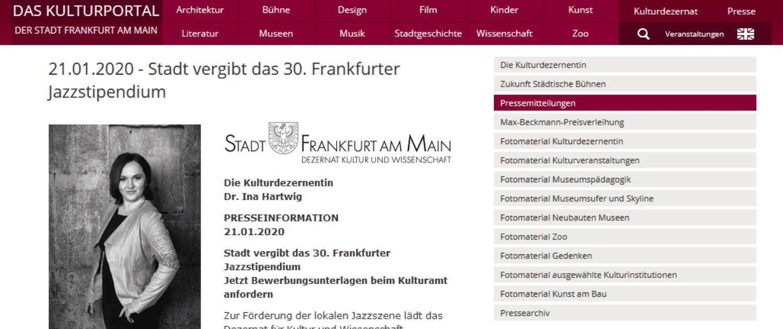 Jazzstipendium Frankfurt am Main