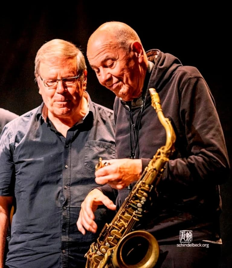 Bob Degen (Klavier, links), Heinz Sauer (Saxofon, rechts)